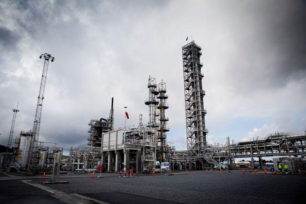 Regjeringen dropper fullskala CO2-rensing på Mongstad.