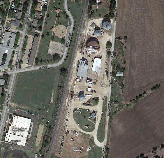 West Fertilizer-anlegget i Waco ligger tett inntil bebyggelse.