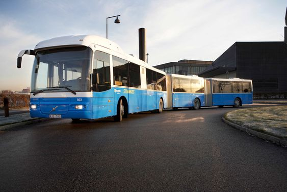 Volvo 7500 bi-articulated ble testet i Oslo.