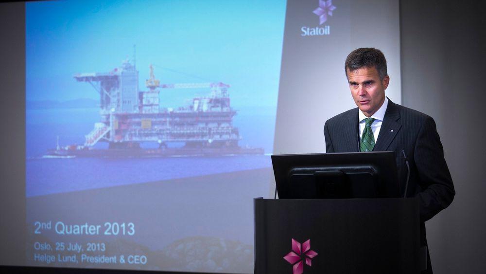Statoils konsernsjef presenterte et skuffende resultat for andre kvartal torsdag.