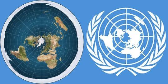 """""""FN vet alt om Jorda, hvorfor skulle de finne på å ha flat-jord kartet som logo?"""" spør forfatteren av en artikkel i Nyttnorge.com. Ingen av artiklene er signert."""