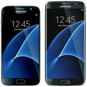 Slik skal Samsung Galaxy S7 (venstre) og S7 Edge bli, ifølge den kjente ryktemakeren @evleaks.
