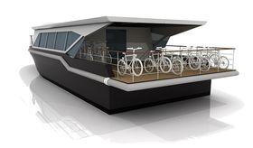 BBGreen er utviklte med tanke på kanaltrafikk i Nederland. Det er beregnet plass til 20 sykler på det 20 meter lange fartøyet. Rampen bak øker totallengden med 2 meter.