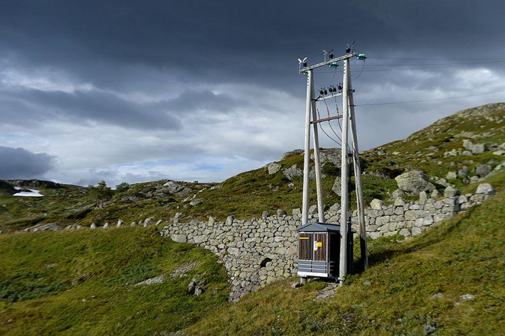 En nettstasjon fra ABB i Skien utenfor Vågslidtunnelen tidligere denne uka.