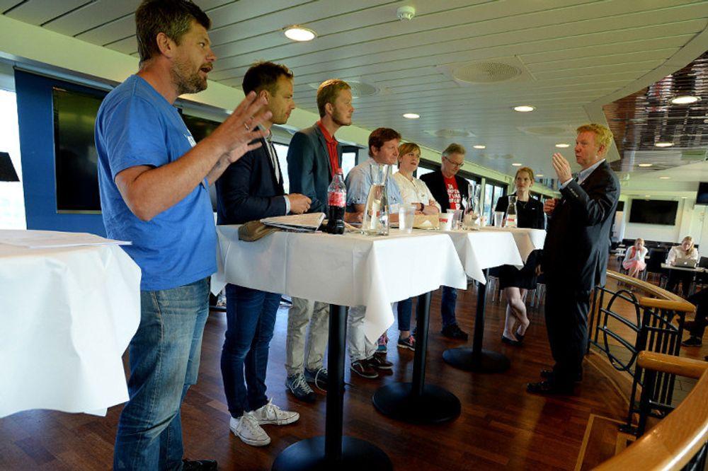 Paneldebatt under ABBs elektriske turné, Drammen.