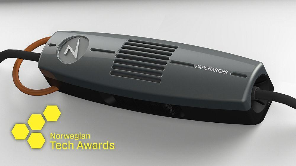 Vinner 2015: Zaptec. Zapcharger portable er den første ladekabelen med innebygget elektronisk transformator.