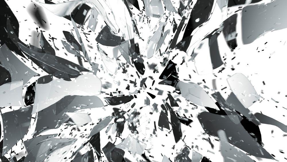 PARC har utviklet et glassubstrat som kan brukes til elektronikk. Tilførsel av varme får brikken til å selvdestruere. Illustrasjon.