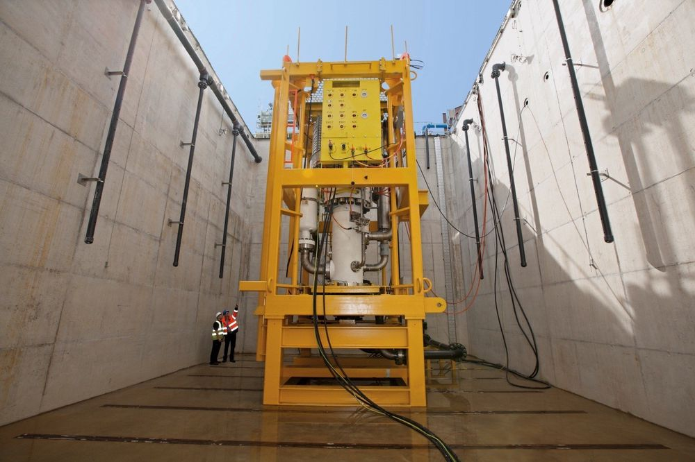Subseapumpen under testing i Leeds. Foto: Sulzer.