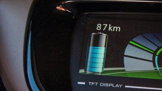 Rekkevidden ved fulladet batteri kan være en indikator på tapt kapasitet, dersom du nullstiller kjørecomputeren.