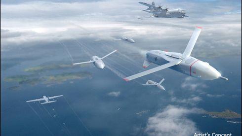 Transportflyet skal sende ut en sverm droner - og fange dem inn igjen i lufta