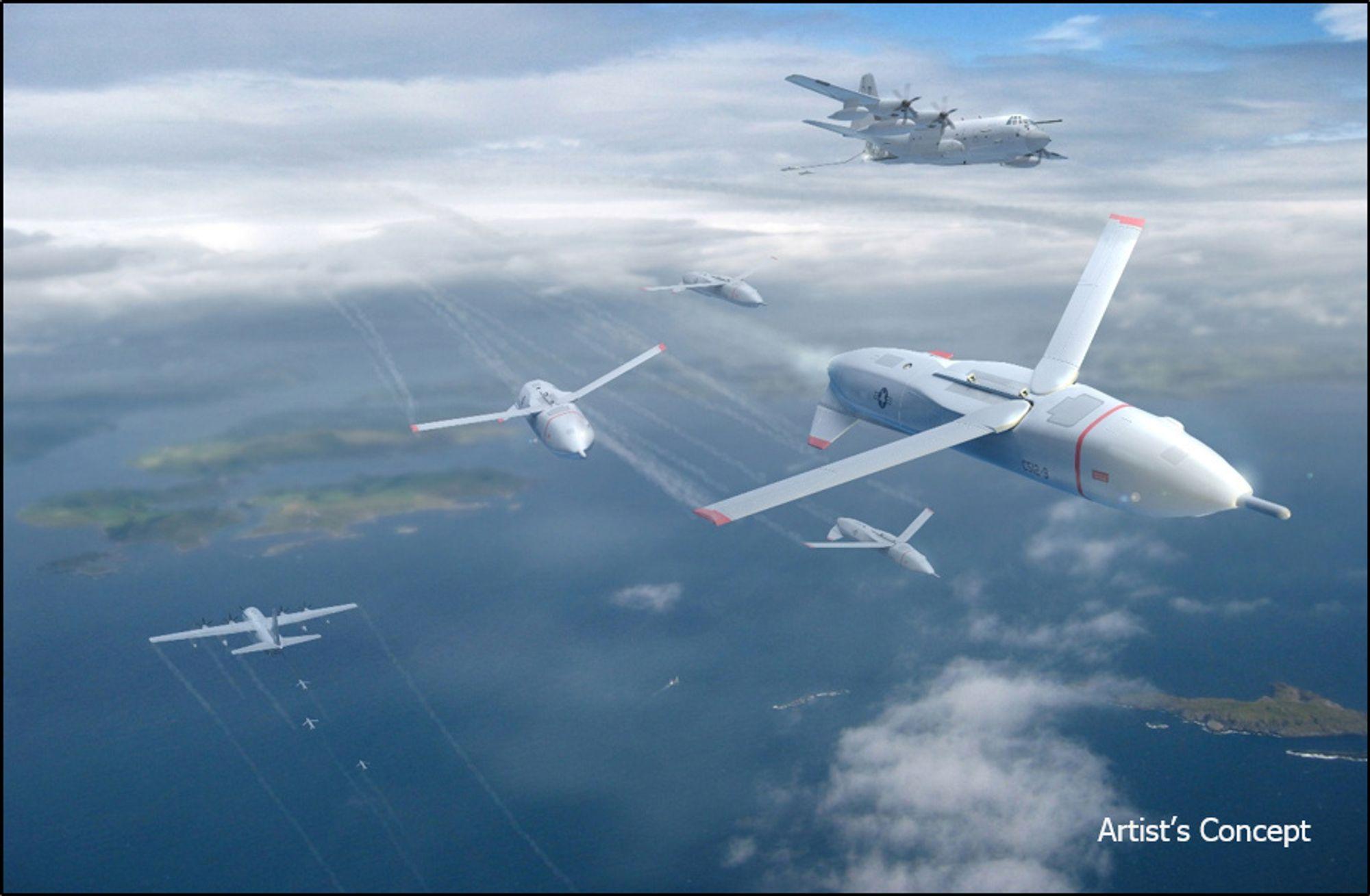 Darpas nye Gremlins-program tar sikte på å utvikle teknologi slik at militærfly kan sende ut droner og fange dem inn igjen etter utført oppdrag.