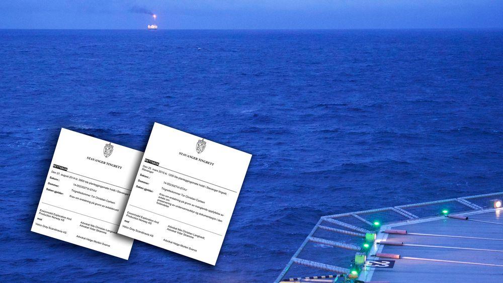 Den norske delen av oljegiganten Exxonmobil har gått til sak mot en leverandør av subsea-utstyr.