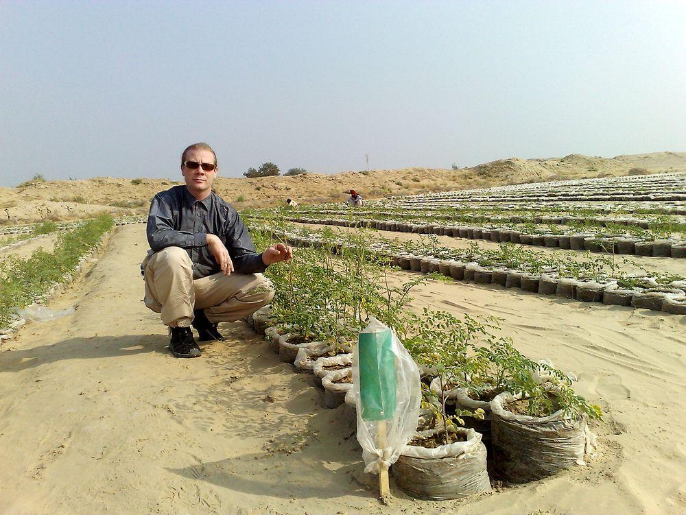 Test: Ole Morten Olesen under en test i ørkenen i Egypt.