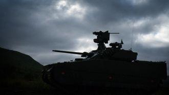 Med den nye våpenstasjonen har CV90 fått en høyere profil.