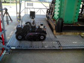 Foxiris-roboten som er utviklet av GMV er med i en robotiseringskonkurranse arrangert av oljeselskapet Total.