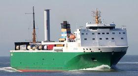MV Estraden med prototyp av Norsepower Rotor Sail montert akter. Drivstoffbesparelsen er på 2,6 prosent i løpet av ett år. Med fire fullskala rotorer mener Norsepower at rotorene kan spare 20 prosent drivstoff.