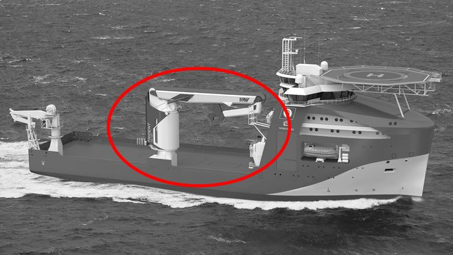 Skulle bli det første skipet med revolusjonerende ny kran. Nå er ordren kansellert