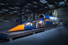 Den ferdigbygde farkosten på det tekniske senteret i Bristol i fjor høst.