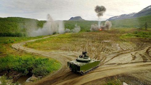 Her er nye CV90 i aksjon