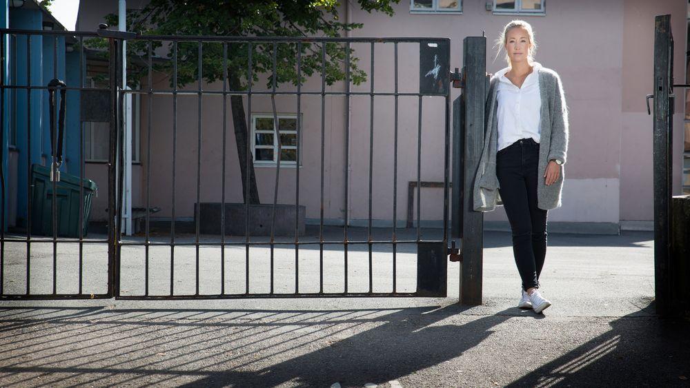 Etter å ha lest om den arbeidsledige sivilingeniøren Karine Huuse (bildet), som ble fratatt dagpengene fra Nav da hun ville ta et fag for å kvalifisere seg til pedagogstudier, etterlyser nå stortingspolitiker Anne Tingelstad Wøien (Sp) tiltak fra departementet.