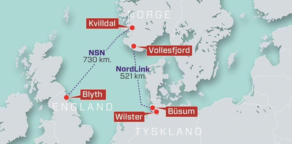 Det er ikke de to nye kraftkablene fra Norge til Tyskland og England som er hovedårsaken til at strømmen blir dyrere, ifølge NVE