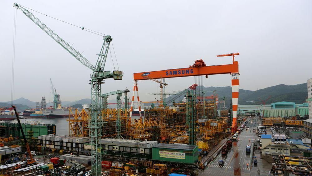 Forsinkelser ved Samsung Heavy Industries' verft på Geoje Island i Sør-Korea utsetter produksjonsstarten på Martin Linge-feltet.