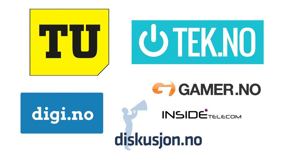 Sidene i TU-/Tek-nettverket: TU, Tek, Digi, Gamer, Inside Telecom og Diskusjon.no. I tillegg kommer nisjenettstedene Våre Veger og Automatisering.