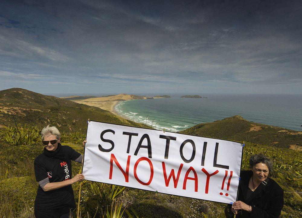 Statoil er en relativt ny aktør på New Zealand. Men det er ikke alle som er fornøyde med Statoils inntog