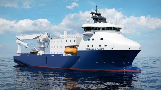 Offshoreskipet ble levert i april. Allerede nå bygges det om til vindkraftservice