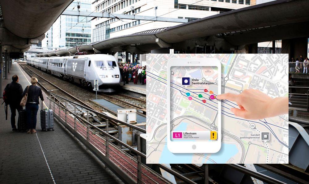En ny applikasjon lar deg se akkurat hvor toget ditt er til enhver tid.