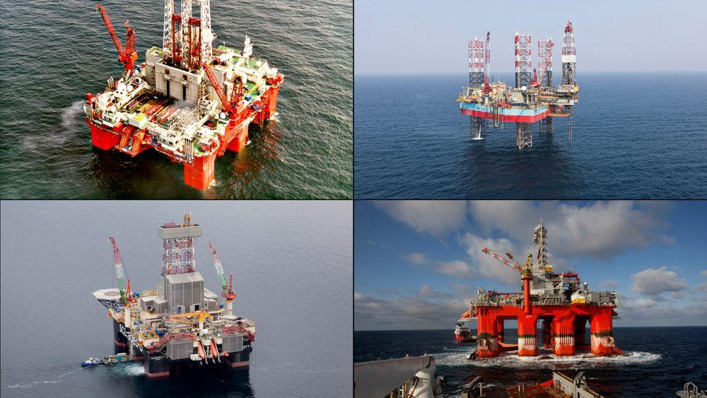 En rekke hendelser på sokkelen i 2015 kunne ført til dødsfall. Helt på tampen av året skjedde nettopp det. Her er fire av riggene de alvorlige hendelsene har funnet sted: Scarabeo 8, Maersk Giant, Transocean Barents og West Venture.