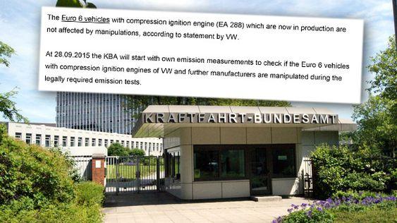 Utdrag av brevet det tyske bilsynet Kraftfahrt-Bundesamt (KBA) blant annet har sendt Vegdirektoratet.