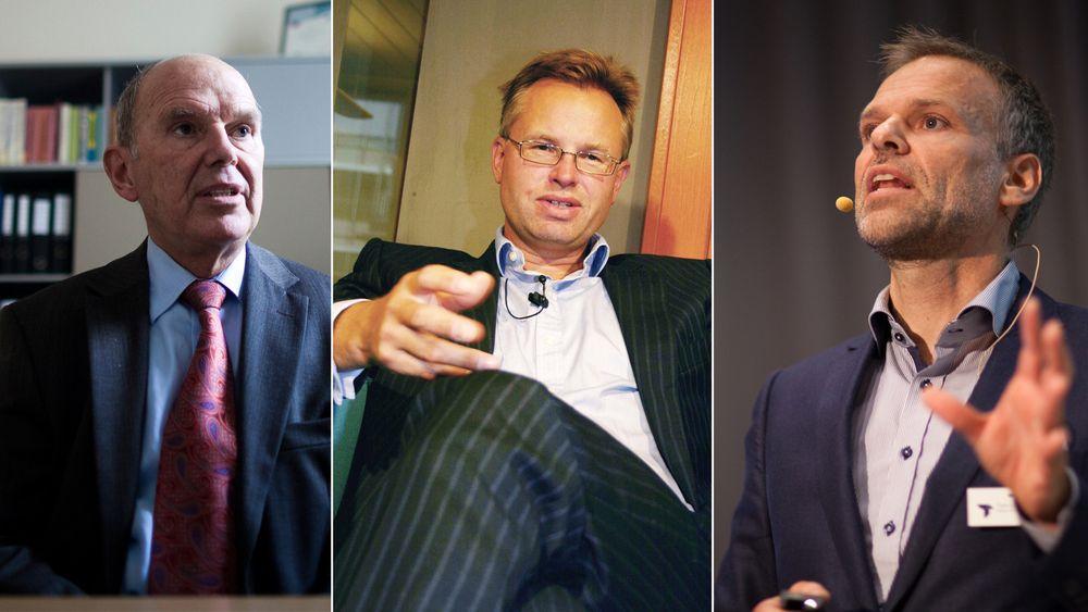 Alf Bjørseth (t.v), Øystein Moan og Tore Ulstein topper lista over ingeniørene i Norge med høyest formue.