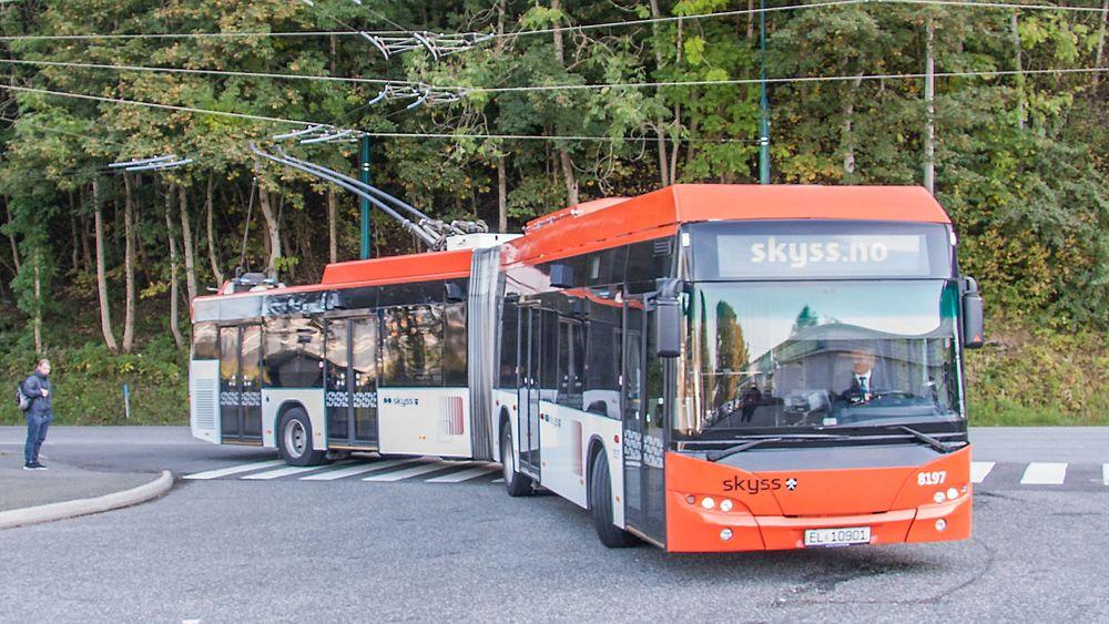 Bergens seks trolleybusser ble kjøpt inn i 2003, og er av typen MAN Neoplan N6221 TG. De er 18 meter lange.