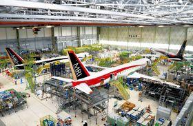 Den nye MRJ-fabrikken ligger ved Nagoya lufthavn.