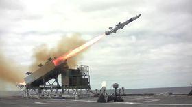 NSM testskytes fra USS Coronado 23. september 2014.