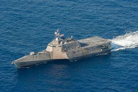 USS Coronado (LCS-4) er et av fartøyene som skal utstyres med langtrekkende missiler før det seiler til vestre deler av Stillehavet neste år.