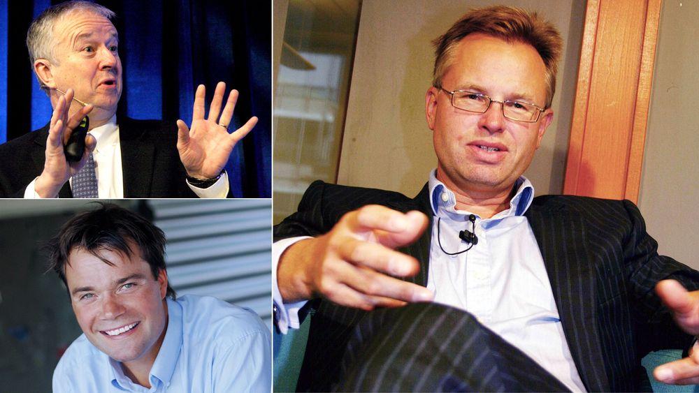 Dette er teknologene som tjente mest i 2014: Tore Halvorsen (oppe til venstre), Vegard Wollan og Øystein Moan (til høyre).