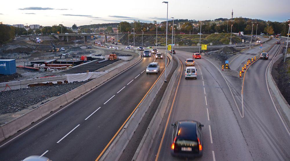 For ett år siden var trafikken tett i sørgående felt mot Forus næringspark. Bildet er tatt i rushtiden torsdag morgen.