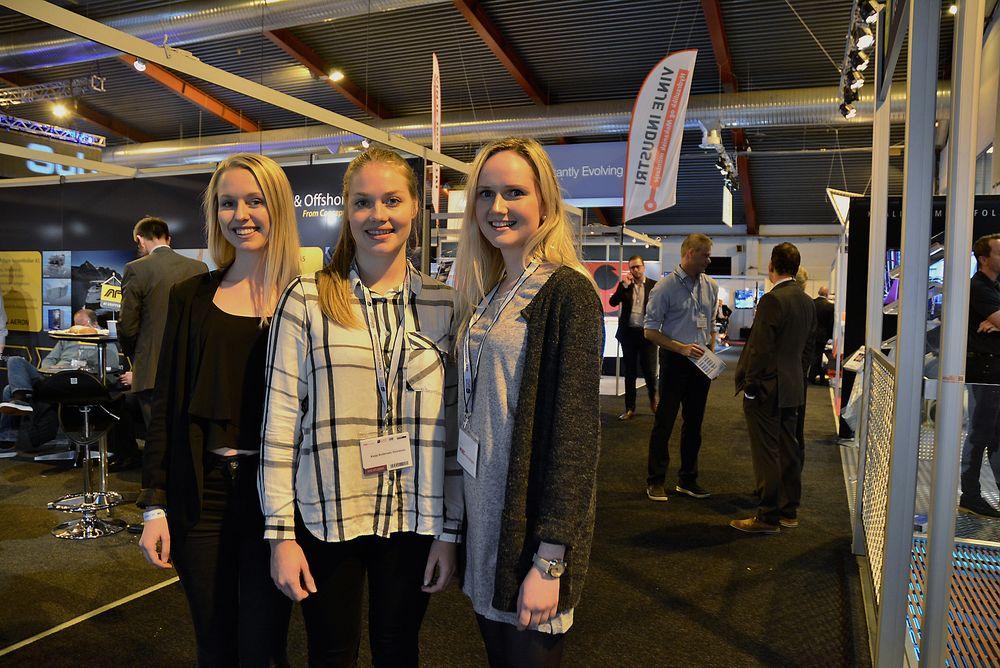 Siri Andvik, Katja Heinänen og Åse Kristin Draugsvoll studerer undervannsteknologi i Bergen på tredje året. Med dagens arbeidsmarked ser de ikke noe annet valg enn å ta masterutdanning etter endt bachelor til våren.