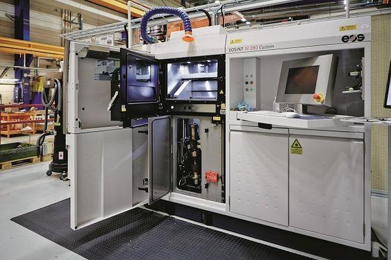 I Finspång i Sverige brukes 3D-printere allerede i produksjonen av gassturbiner. FOTO: Siemens