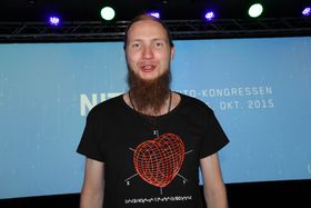 """Smart ingeniør: Øystein Grønbdahl som ble nummer tre i """"Norges smarteste"""" på NRK, jublet for at studentene nå får stemmerett i Nito. Foto: Tormod Haugstad"""