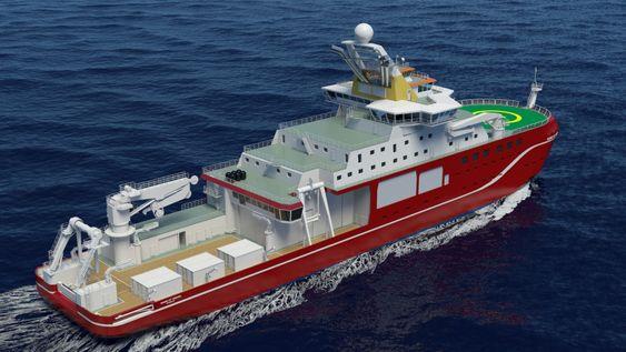 Stor dekkskapasitet sørger for plass til forsyninger til britiske forskningsstasjoner. Det er plass til 90 personer om bord, derav 55 til forskere.