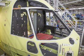 Neseseksjonen på fly nummer to som ligger halvannen måned bak første fly i produksjonsprosessen.