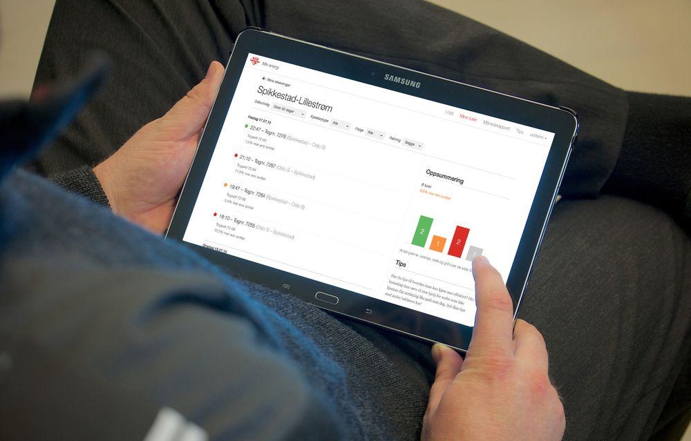 NSB mener den nye applikasjonen skal føre til redusert energibruk og bedre punktlighet på  norsk jernbane.