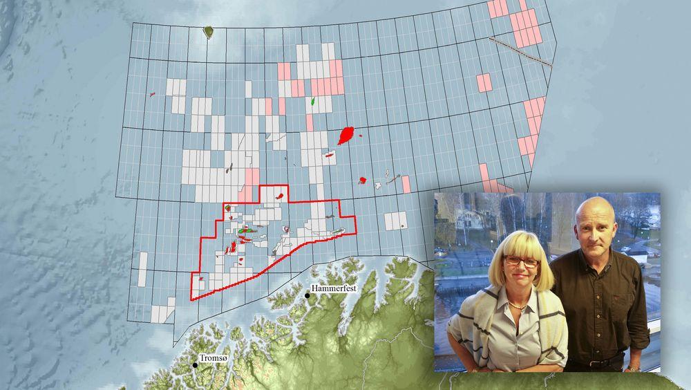 Administrerende direktør i Lundin Kristin Færøvik og letesjef Halvor Jahre fortsetter sin jakt etter ressurser i Barentshavet og har den eneste pågående letebrønnen for øyeblikket.