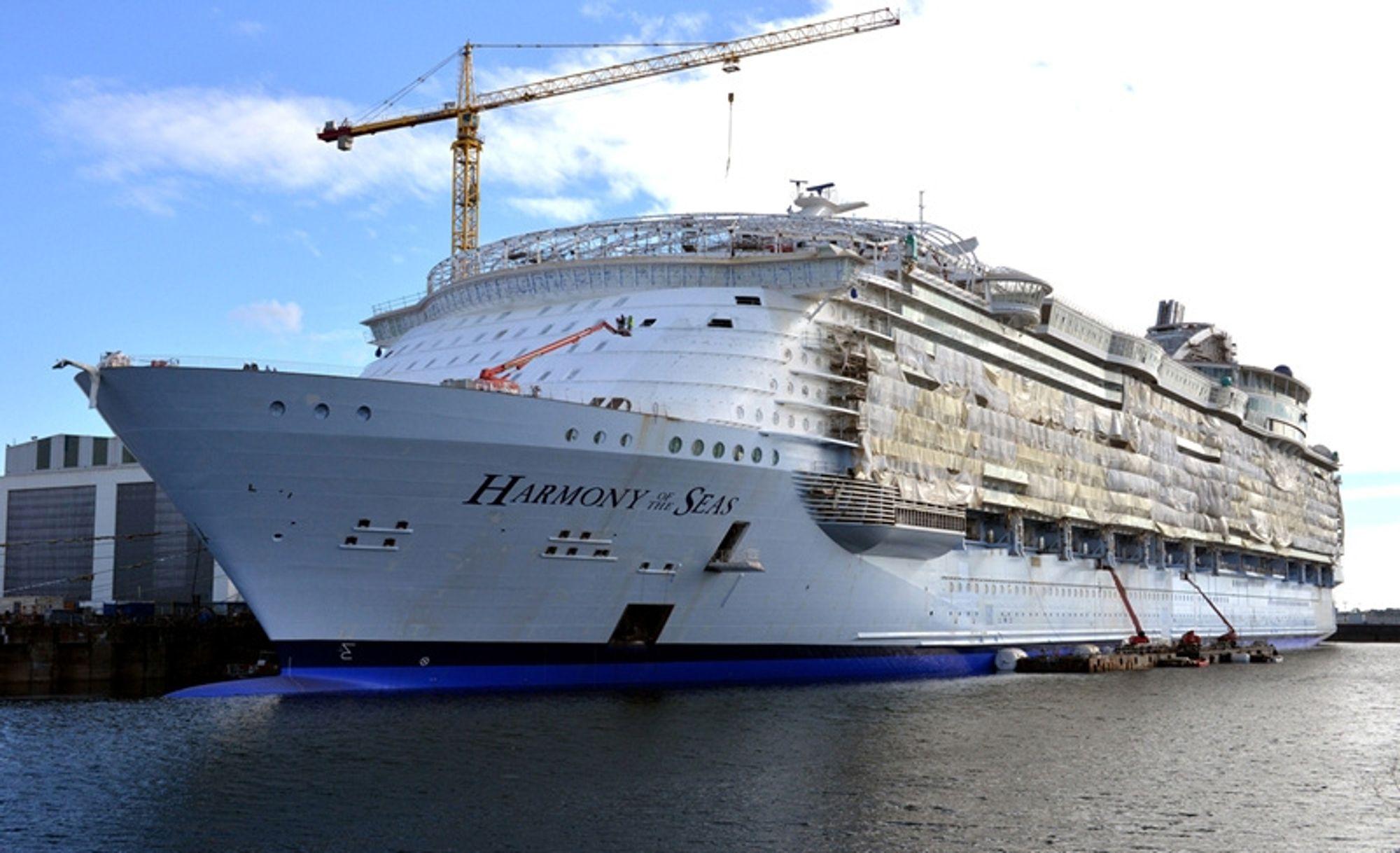Verdens største cruiseskip 2015