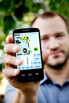 Smart hem på ÖlandVinnaren i tävlingen Sveriges smartaste hem Erik Johannson