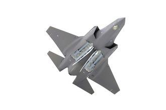 F-35 kan bære to JSM internt (i tillegg til fire under vingene). De to andre missilene i våpenrommet er AMRAAM.