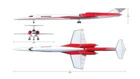 Vanlige subsoniske passasjerfly har et vingespenn som omtrentelig tilsvarer lengden på flyet. Det er ikke tilfellet på AS2.